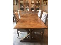 Wooden dining table (chairs also available)