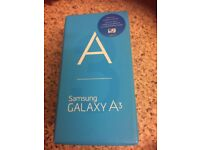 Samsung galaxy A3 unwanted gift never been used in box on 02 only