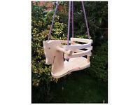 Wooden horse toddler swing seat