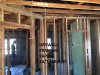 Immediate Drywall , Framing , Ceiling and Taping services