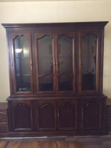 Solid wood china cabinet ( antique )