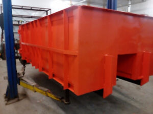 In stock new roll-off bins