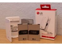 LG G4 Accessories Bundle - Battery Charging Kit, 2x Spare Batteries, Rear Cover and Tempered Glass