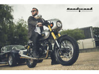 SINNIS Bomber 125 EFI. retro Cafe Racer. Learner Legal Motorcycle