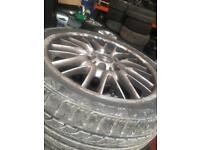 Genuine bmw alloys 18 inch mv1 stagggered