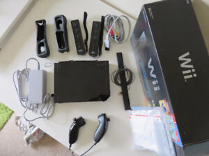Black Wii and Accessories