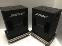 A Pair of 302 Bass Bin Cabinets Only [No Drivers] with Flight Cases