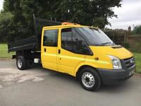 FORD TRANSIT CREW CAB TIPPER 2.4 TDCI 115 P/S 6 SPEED 2009 58 REG , EX COUNCIL OWNED !! P/X WELC