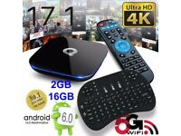 Q-Box Android 6.0 TV Box - WIFI WITH Mini Keyboard