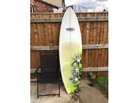 NXR 6'8 surfboard Fish