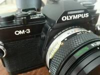 Rare Olympus OM-3 with 2 olympus zuiko lenses OM System £380 ONO