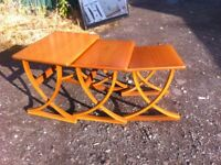 Nathan furniture tri nest of tables