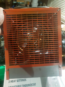 240V electric heater with fan