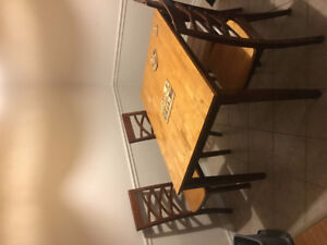 Solid Wood Dining Table + 4 matching Chairs (pick up only)
