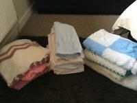 Selection of handmade/a few shop bought baby blankets
