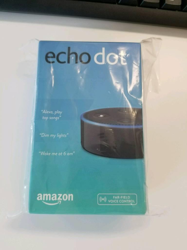 Amazon Echo Dot (Black, 2nd Generation) - Unopened