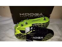 Brand new adult's Kooga control rugby boots size 13 - Black/Lime