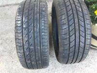 Pair 205/50/16 tyres