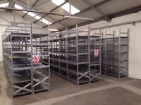 50 bays Galvenised SUPERSHELF industrial shelving 2m high ( pallet racking /storage)