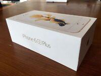 Apple Iphone 6s Plus 128GB gold, Unlocked, box, leather apple case worth £50, must go!