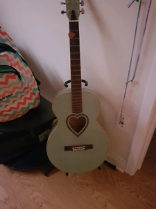 J.J. Heart guitar with soft case and stand for sale
