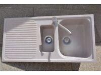 Schock Lithos D-150 Kitchen Sink and waste - Croma Grey Granite