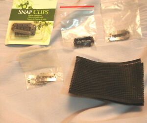 Clips for extension & hair velcro