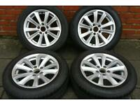 """Genuine BMW alloys wheels 17"""" for 3 & 5 Series 520d 525 535d 320d 330i d cars with Run flat tyres"""