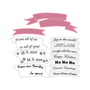 Marianne Dies & Clear Stamps - Banners & Text Christmas - $20