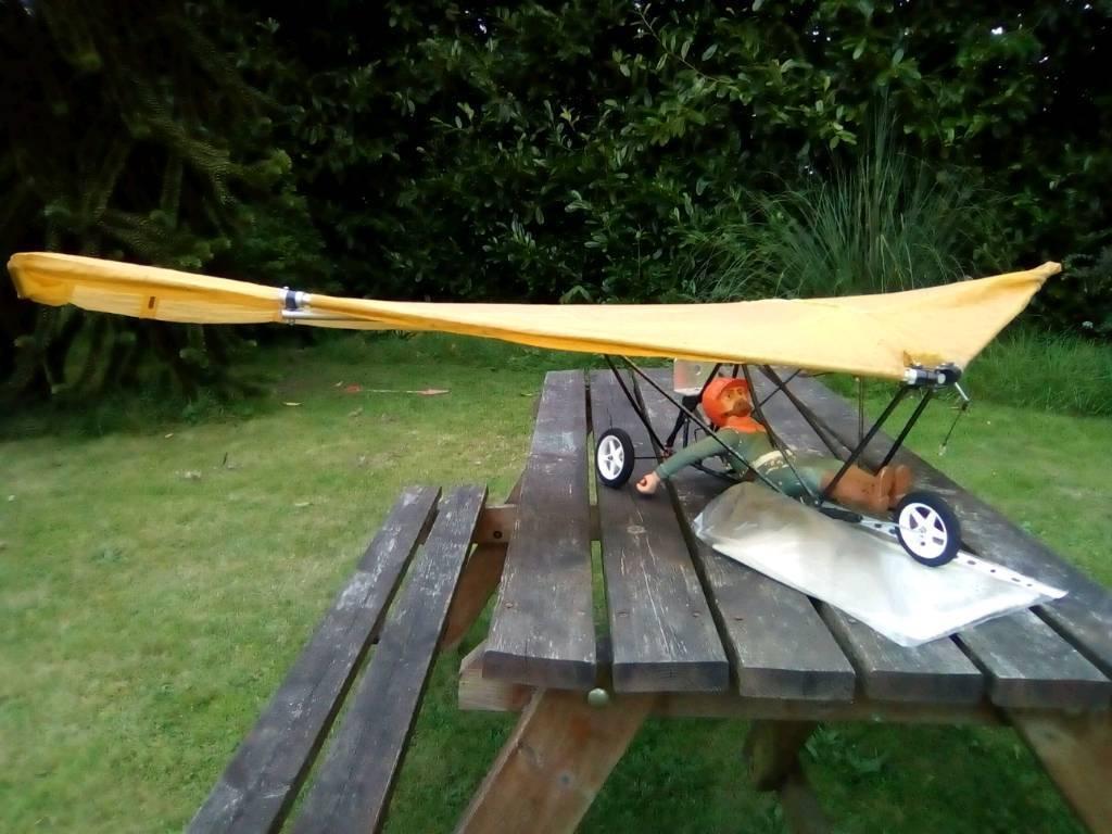 Rc Plane Aircraft Vintage Powered Hang Glider Paraglider 5 Foot