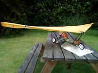 Rc plane, aircraft vintage powered hang glider, paraglider 5 foot wingspan. Collectors item