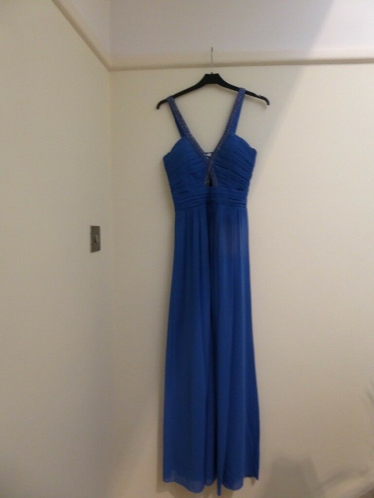 Evening dress size 12in Poole, DorsetGumtree - Size 12 full length evening dress. Blue with pretty beaded detail on arm straps