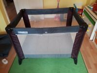 Mamas and Papas travel cot with additional topper mattress