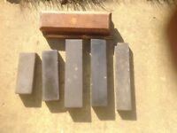 Vintage oil stones x5 for minor restoration