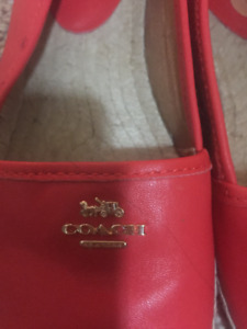 COACH SHOES (leather) -worn once mint condition $60 OBO