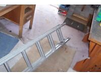 Ladder, aluminium double extendable, Starmaster DIY 3.13 X2 £25 ONO (new price £95)