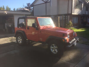 2005 Jeep TJ Convertible (Limited Edition Colour)