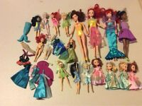 Large and small Disney Princess dolls