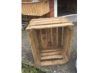 VINTAGE RETRO WOODEN APPLE CRATES - CAN DELIVER