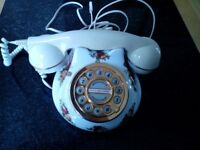 Royal Albert Old Country Roses fine china telephone