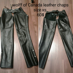 Wolff of Canada leather chaps