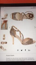 Rose Gold sequin Heels