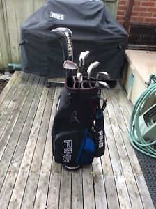 King Cobra irons, Big Bertha Callaway driver, Ping bag