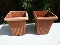 4 x Garden planters good condition just wash with soapy water to look great