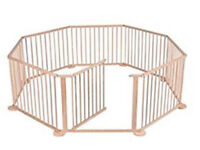 8 Panel Foldable Large Wooden Baby Playpen