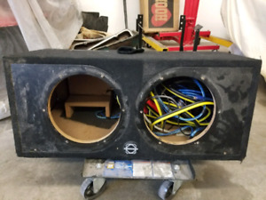 "Basssworx dual 10"" sub box/enclosure"