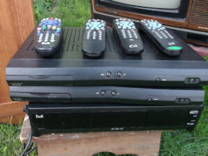 WELLAND - 3 BELL Satellite Receivers and remotes