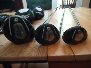 Used Set of Titleist 910 Woods, Left Hand, Stiff Flex