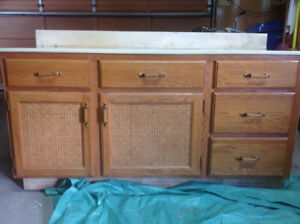 2 Vanities, 1 Medicine Cabinet, and Tub Surround PRICED TO SELL