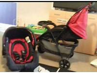Oh Baby push chair and car seat